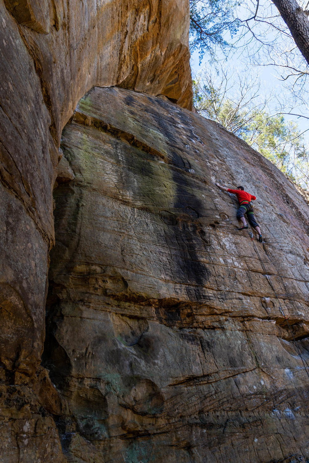 Me on the warm up Brown Eyed Girl 5.10a