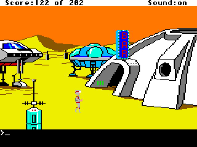Space Quest: The Sarien Encounter (1986) from Sierra On-Line.