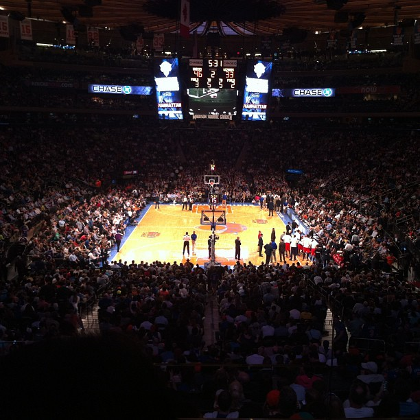 Took in a Knicks game @ MSG, seated in the Sports Illustrated box (awesome view of the court!)