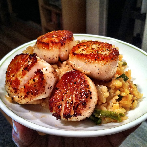 FINALLY learned how to properly sear scallops, a new staple in my home cooking arsenal.