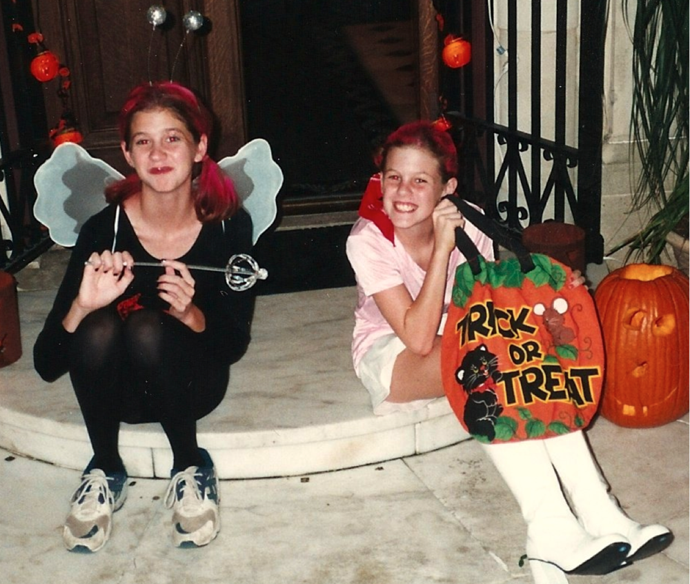 Me and my sister circa 1995