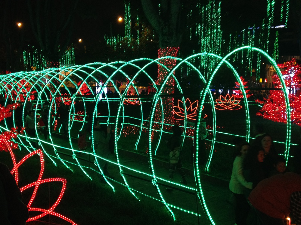 Lights in Bogotá