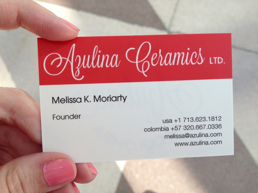 My first ever Azulina business card.