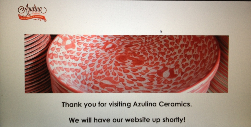 What azulina.com looked like back in January. Yikes!