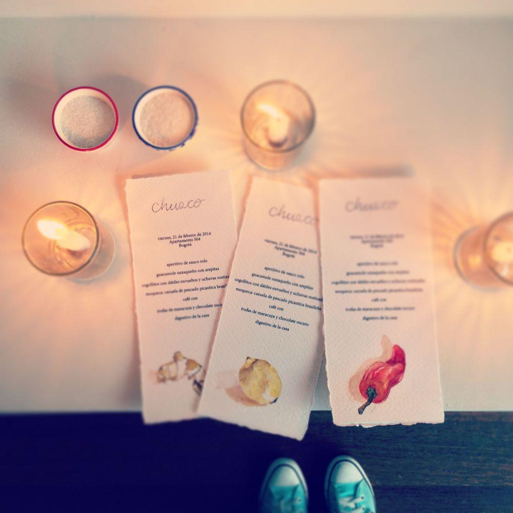 hand-painted Chusco menus