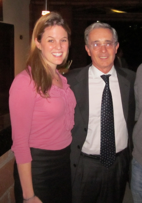 Me with ex-President Alvaro Uribe in 2011