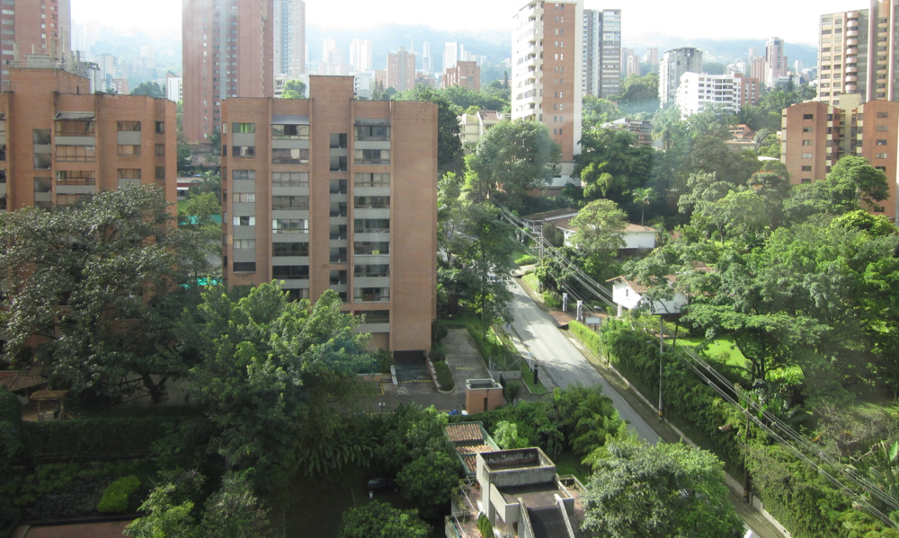 First morning in Medellín. View from the hotel room.