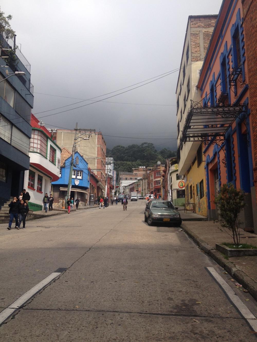 Cloudy day in the Macarena neighborhood