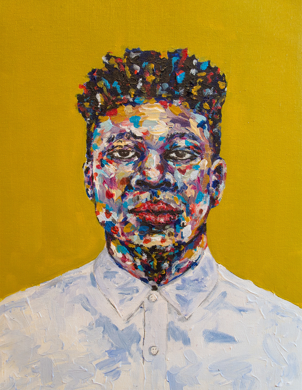 "Mick Jenkins   12 x 16""  Acrylic on Canvas Paper For Sale"