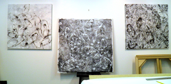 b&w group of new paintings