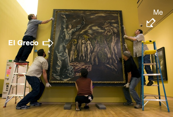 El-Greco exhibition installation at Nasher Museum at Duke University