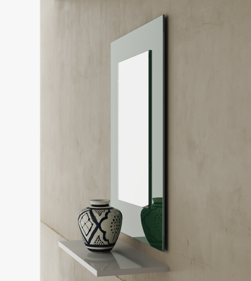 Side View Green Mirror