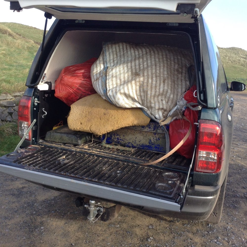 We emptied a pick up truck load of rubbish off the beach!