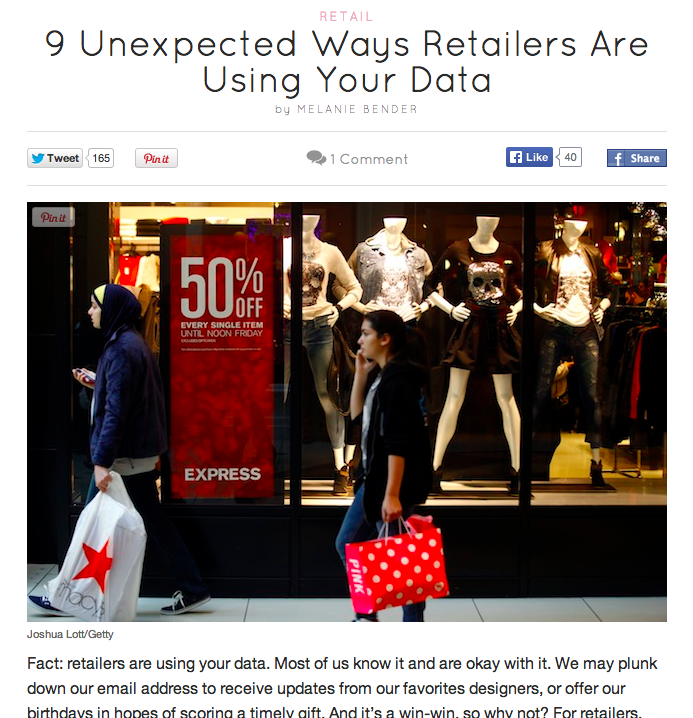 Retailers are using your data