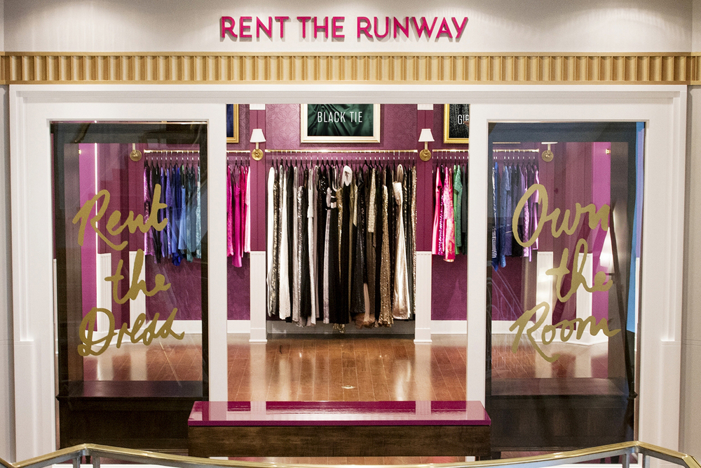 Rent the Runway's showroom at Henri Bendel.