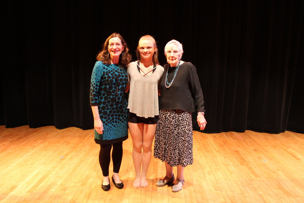 Vicky Wilder and Florence Ridderhof with inaugural scholarship recipient, Molly Bowling
