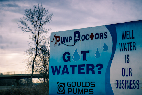 Pump Doctors sign in Big Flats, NY