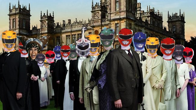 My treatise on how Downton Abbey is way too similar to Mighty Morphin Power Rangers.