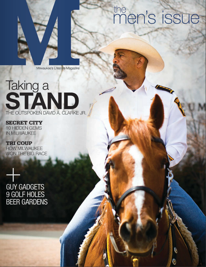 Editorial Photography for  M Magazine . Story about Sheriff David Clarke.  Digital edition link here: http://www.mydigitalpublication.com/publication/?i=160290