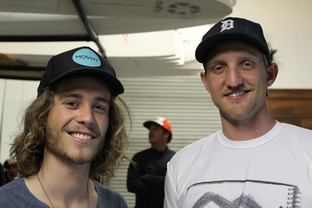 Derrik Kapalla and Christopher Clark. (Surfboard shapers and founders of Shaper Studios)