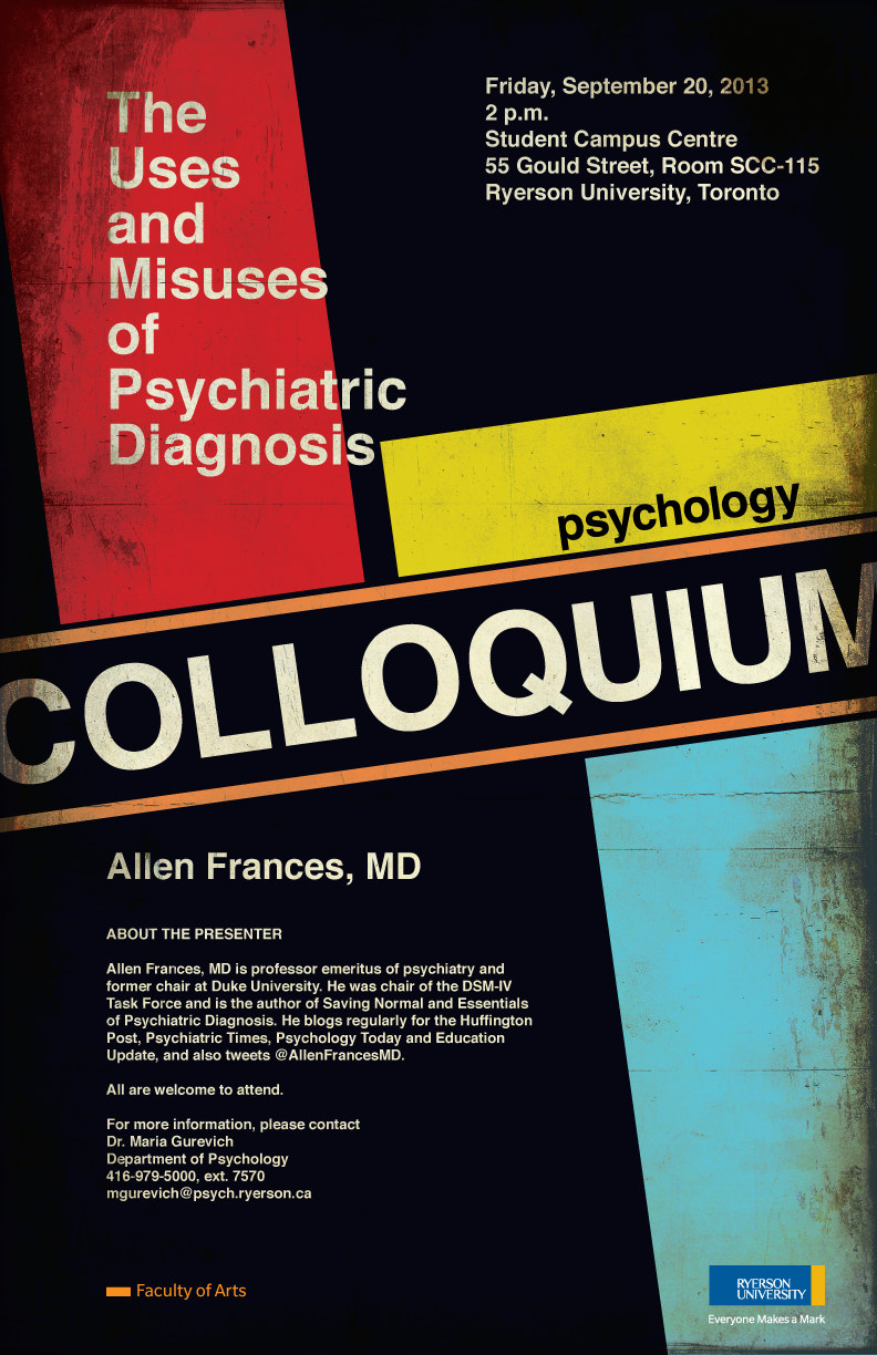 Ryerson Faculty of Art Psychology Colloquium