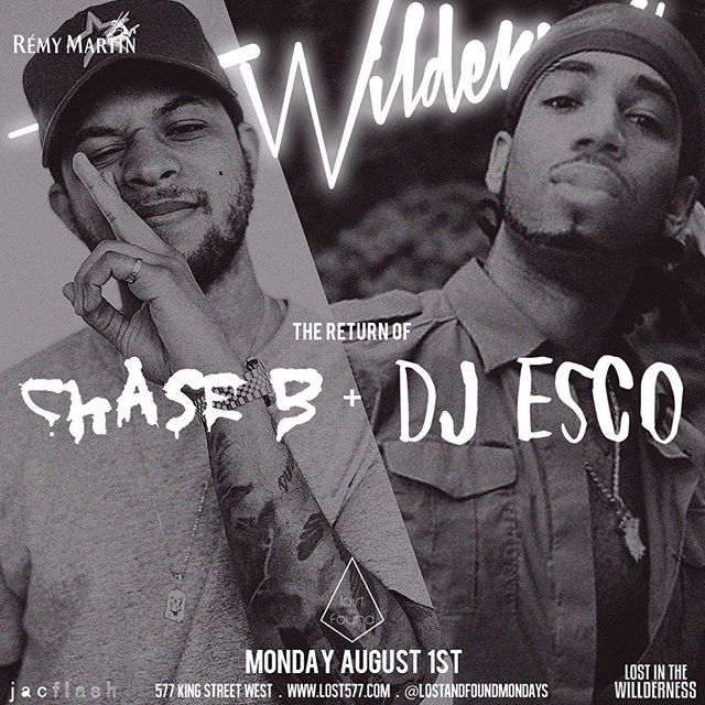 And to close out the long weekend we got my guy @ogchaseb (official DJ of Travis Scott) and @escomoecity (official DJ of Future) !!! Oh man oh man oh man!!! I don't even need to say anything else.  See all y'all everyday this weekend! 5 day bender here we come!!! @lostandfoundmondays @lost577