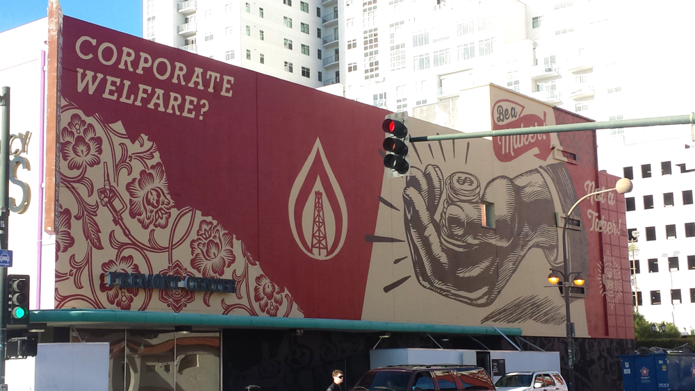 Obey mural in Downtown Las Vegas