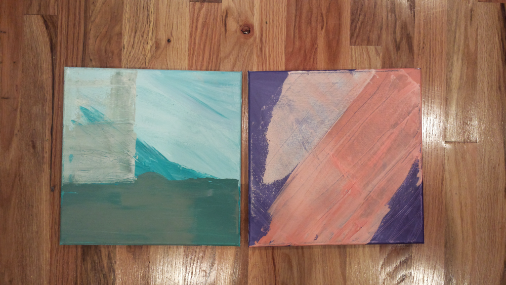 Two paintings I am currently working on