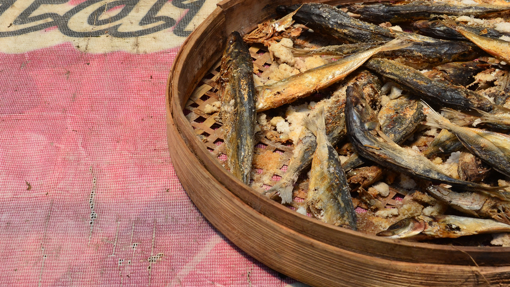 Dried fish in town