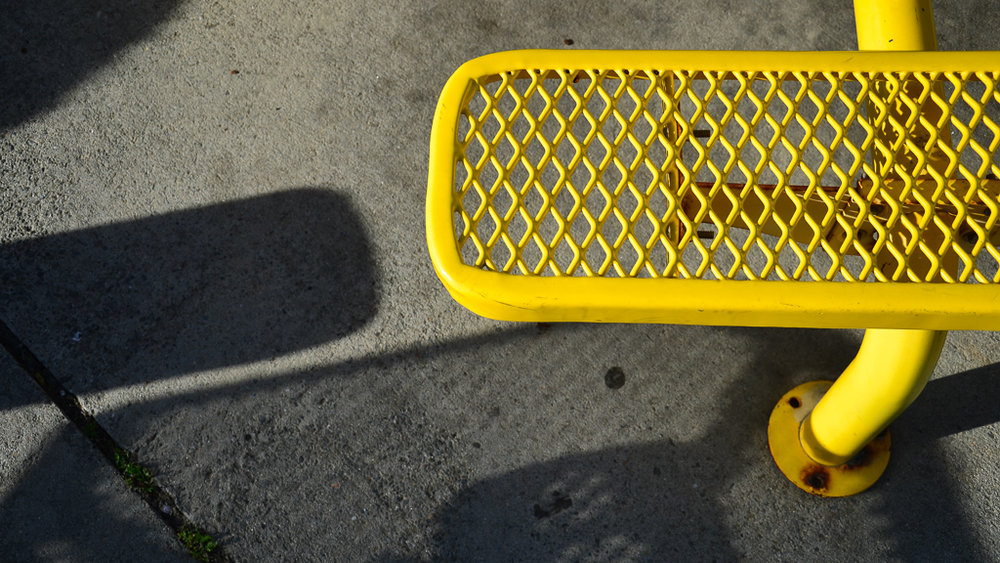 yellow bench
