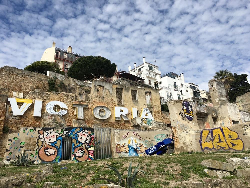 Street art near the main city castle