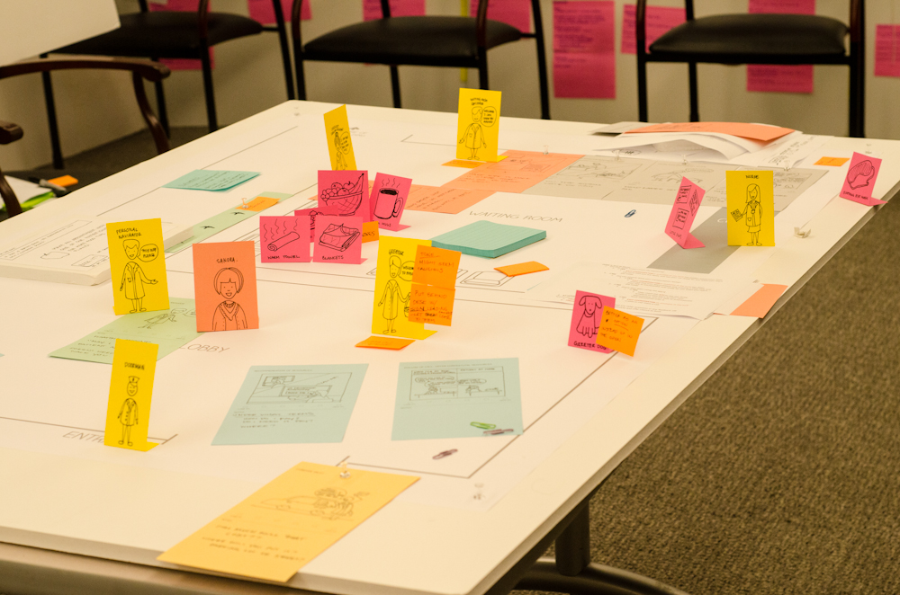 Prototyping the service experience with patients and caregivers