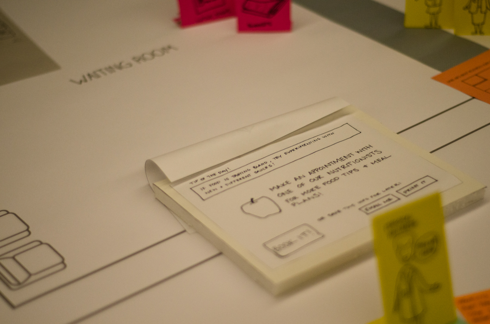 Paper prototyping service components