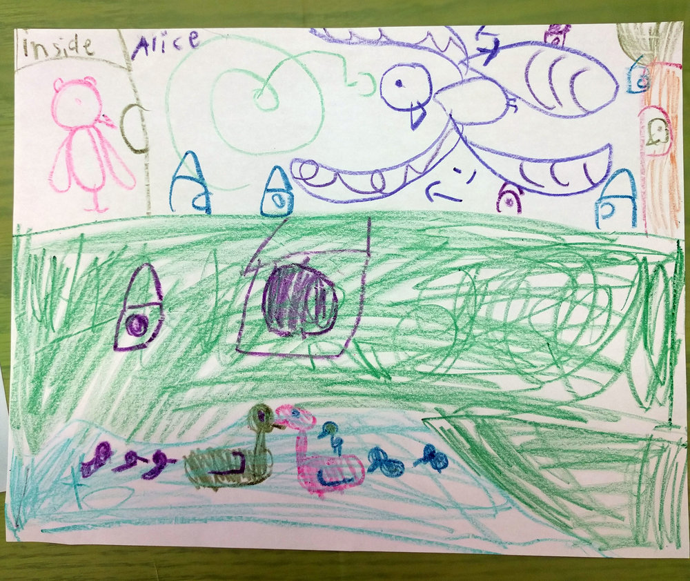 Alice in Coaldale drew a bird sanctuary