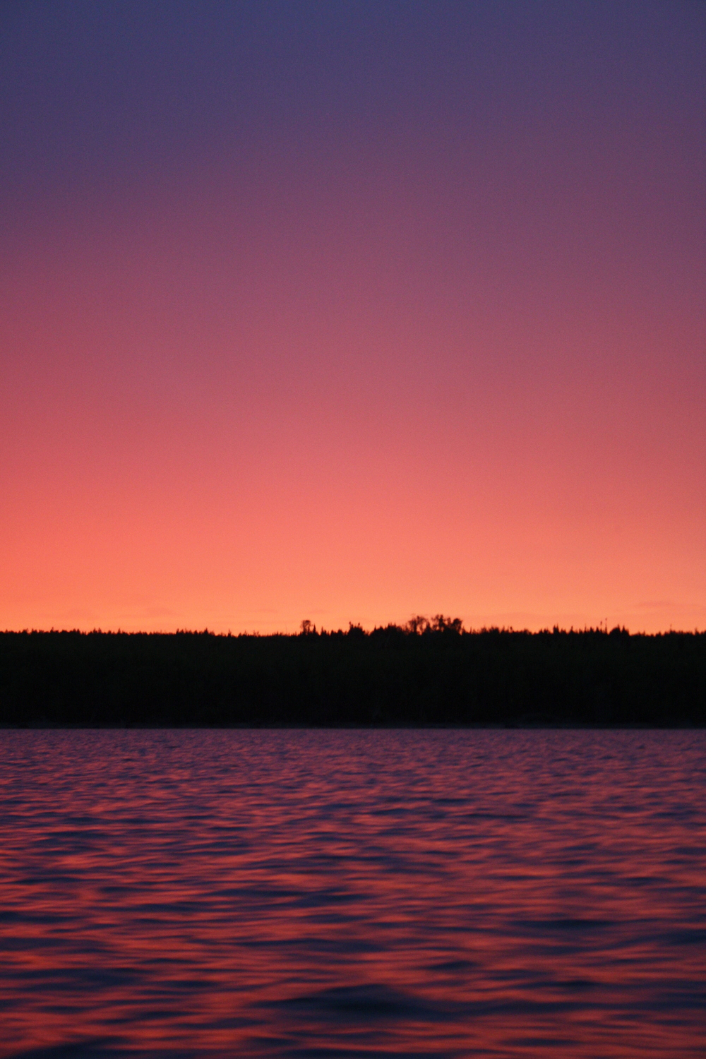Sunset, Lake Winnipeg