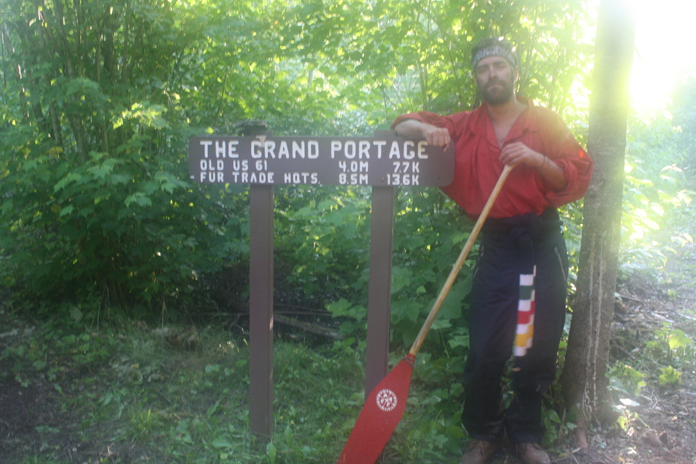Peter at THE GRAND PORTAGE
