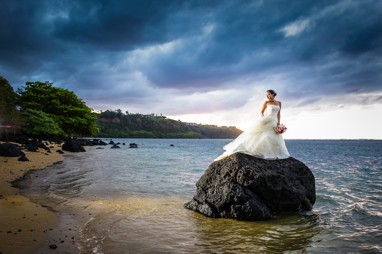 Nora, Anini Beach Wedding