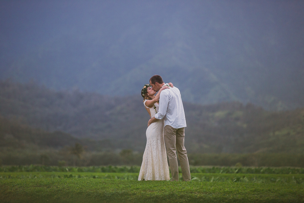 Victoria & Barry, Hanalei Bay Wedding