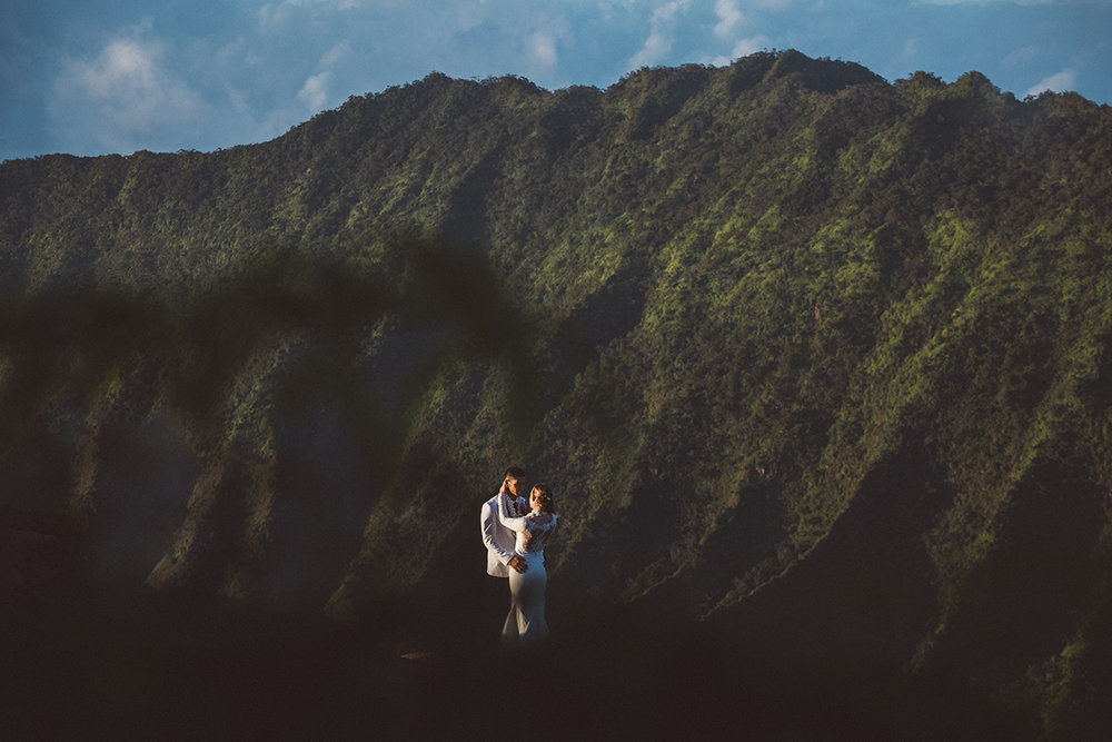 Katie & Kawika, Koke'e wedding