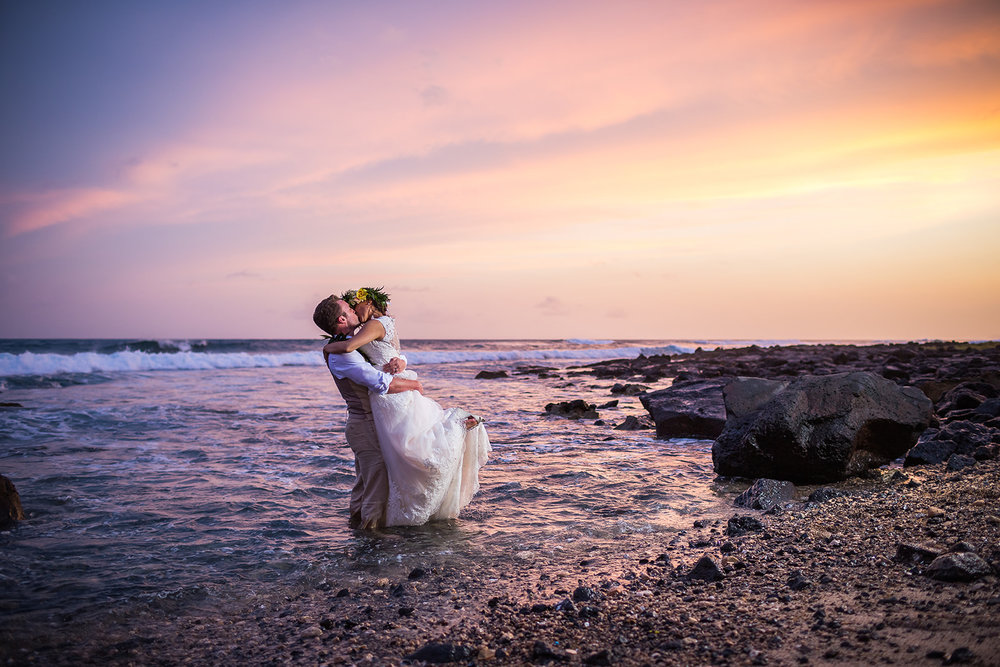 Karla & Ryan, Poipu wedding