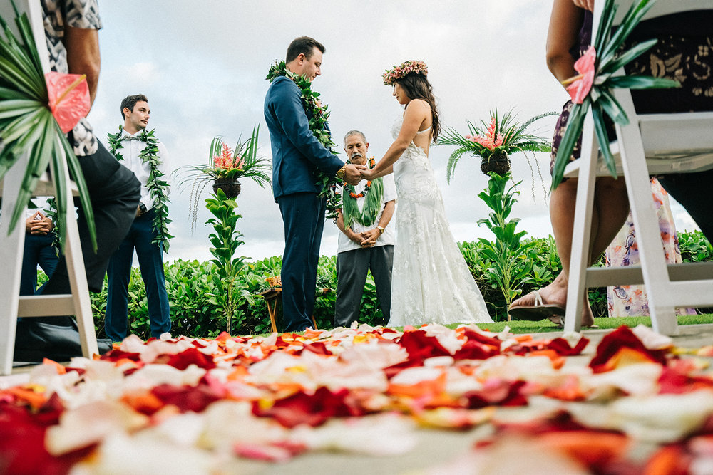 Kari & Lee, Wailua wedding