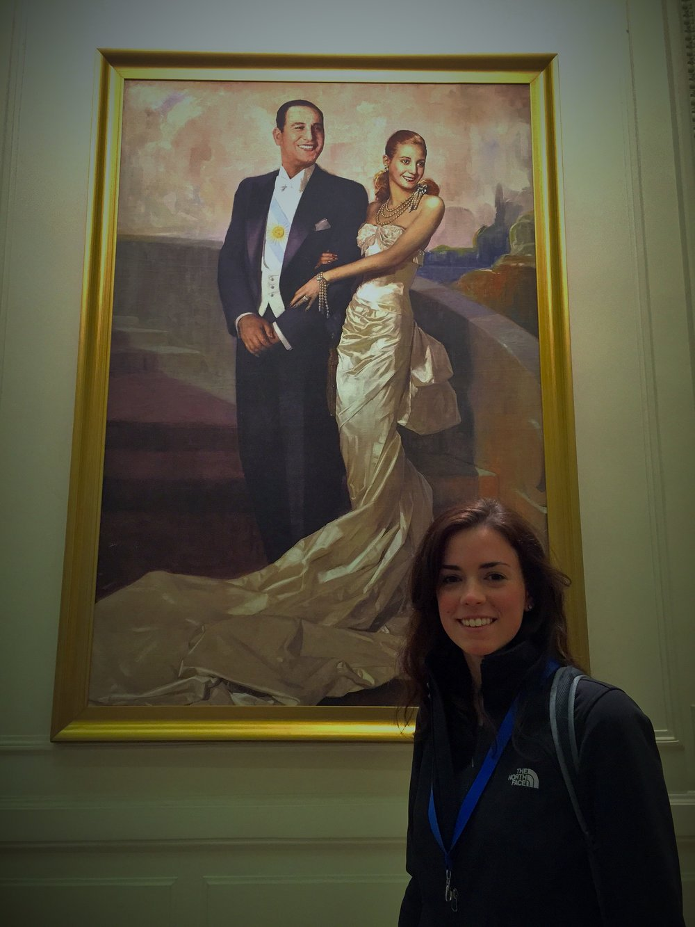 Portrait of Eva and Juan Peron hanging in Casa Rosada, the presidential palace.
