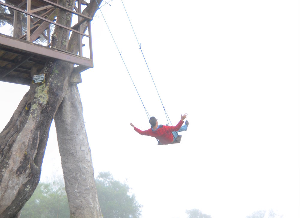 Swinging at the end of the world—Baños, Ecuador.