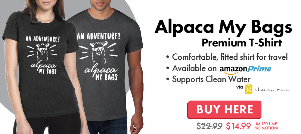 Alpaca My Bags Travel and Adventure T-Shirt
