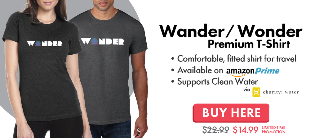 Wander Wonder Adventure and Travel T-Shirt