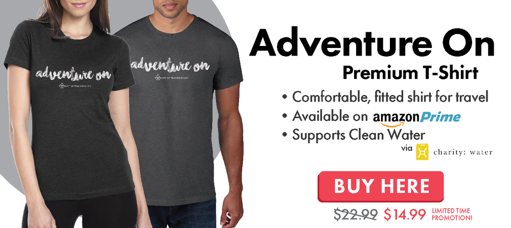 Adventure On Art of Wanderlust Travel T-Shirt