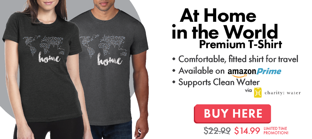 Home In The World Travel T-Shirt
