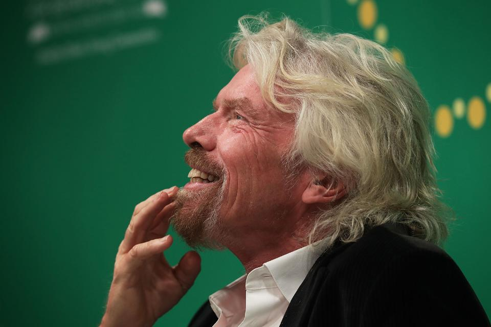 Sir Richard Branson named Top Social CEO in compilation done by Hootsuite and Xinfu (Photo by Alex Wong/Getty Images)