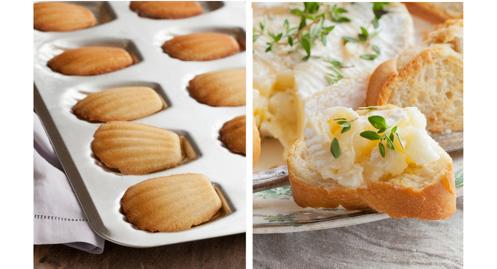 Insatiable Madeleines and Baked Camembert- two die-hard French classics.