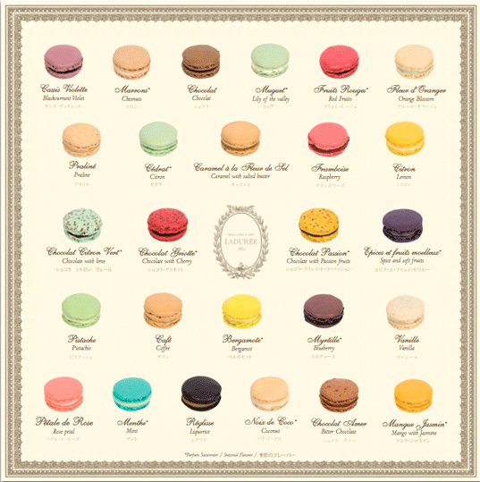 Laudree's famous macaroon charts.